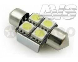 Автолампа светодиодная AVS 12V 5W 31мм 4SMD