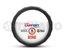 Оплетка на руль CARFORT Bone рельефные ребра черная (S) CS4161