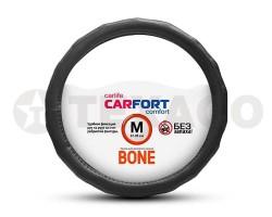 Оплетка на руль CARFORT Bone рельефные ячейки черная (M) CS4162