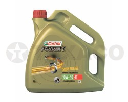 Масло для 4-х тактных двигателей Castrol Power 1 4Т 10W-40 (4л)-полусинтетика SJ/MA-2