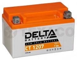 Аккумулятор для мотоциклов Delta CT 1207 7А/ч (AGM)