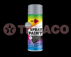 Краска-спрей AIM-ONE серая (450мл)