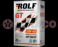 Масло моторное ROLF GT 5W-40 SN/CF (4л) синт