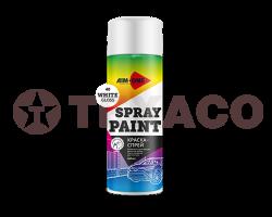Краска-спрей AIM-ONE белая глянцевая (450мл)
