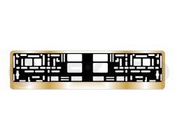 Рамка номера AVS золото RN-13