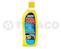 Автошампунь ABRO с воском карнауба WASH-N-GLO (510мл) CW-927