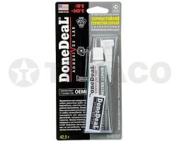Герметик силиконовый термостойкий серый DoneDeaL (42.5г)