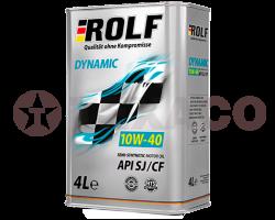 Масло моторное ROLF Dynamic 10W-40 CF/SJ (4л)
