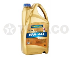 Масло моторное RAVENOL HCS 5W-40 SN/CF A3/B4 (4л)