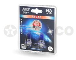 Автолампа AVS ATLAS H3 12V 55W 5000K (2шт) A78568S