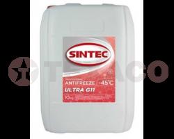 Антифриз SINTEC ULTRA G11 -45 красный (10кг)