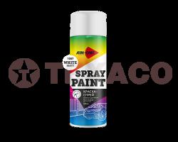 Краска-спрей AIM-ONE белая матовая (450мл)