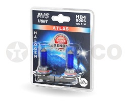 Автолампа AVS ATLAS HB4 12V-55W 5000K (2шт) A78573S