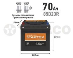 Аккумулятор STARTEX SMF85D23R 70 А/ч