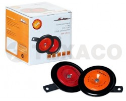 Сигнал звуковой AIRLINE дисковый 110мм 315/415Гц 118дБ 12В AHR-12D-01