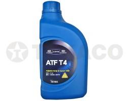 Жидкость для АКПП HYUNDAY/KIA ATF T4 JWS3309 4-х и 5-ти ступенчатых (1л)-п/синтетика