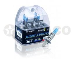 Автолампа AVANTECH H1 12V-55W (120W/5000K) (2шт)