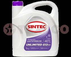 Антифриз SINTEC UNLIMITED G12++ -40 розовый (5кг)