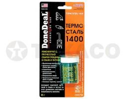 Герметик ремонтный термостойкий сверхпрочный DoneDeaL ТЕРМОСТАЛЬ до 1400С (85г)