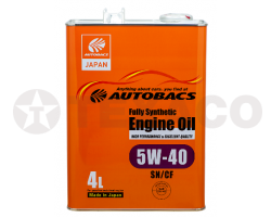Масло моторное AUTOBACS ENGINE OIL FS 5W-40 SN/CF/GF-5 (4л)