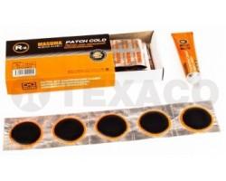 Аптечка для ремонта камер R-2 D40мм 25шт+клей (22мл) круглые