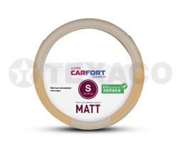 Оплетка на руль CARFORT Matt замшевая структура бежевая (S) CS6111
