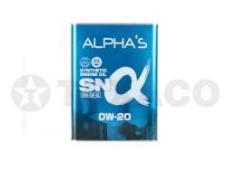 Масло моторное ALPHA'S SN SINTHETIC 0W-20 SP/GF-6A (4л)