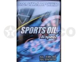 Масло моторное MAZDA SPEED SPORTS OIL A-spek SL 5W40 (4л)