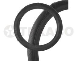 Оплетка на руль SKYWAY Art-6 M черная экокожа S01102046