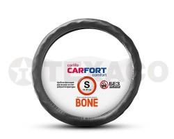 Оплетка на руль CARFORT Bone рельефные ячейки черная (S) CS4151