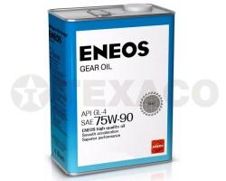 Масло трансмиссионное ENEOS GEAR 75W-90 GL-4 (4л)