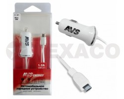Автомобильное зарядное устройство AVS с micro USB (1.2А) CMR-211