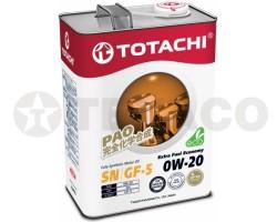 Масло моторное TOTACHI Extra Fuel 0W-20 SN (4л) синтетика