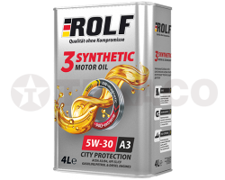 Масло моторное ROLF 3-SYNTHETIC 5W-30 A3/B4/SL/CF (4л) синтетическое