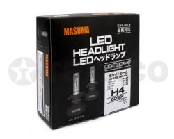 Автолампа светодиодная MASUMA H4 6000K 4000Lm 12V-60/55W (2шт)