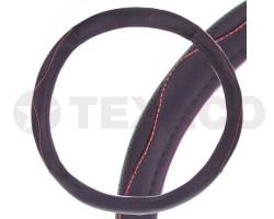 Оплетка на руль SKYWAY Art-1 L черная экокожа S01102343