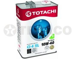 Масло моторное TOTACHI Eco Diesel 10W-40 CI-4/CH-4/SL (4л) полусинтетика