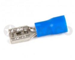 Клемма 7,4мм плоская с изоляцией (мама) синяя