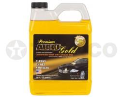 Автошампунь ABRO GOLD PREMIUM с воском карнауба (946мл) CW-990-32