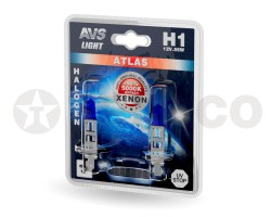 Автолампа AVS ATLAS H1 12V 55W 5000K (2шт) A78564S