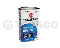 Масло моторное TAKAYAMA 0W-20 GF-5 SN (1л)