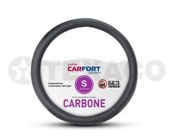 Оплетка на руль CARFORT Carbone черная (S) CS7161