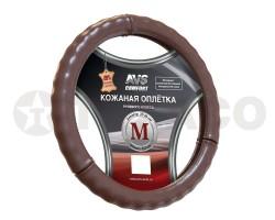 Оплетка на руль AVS (M) коричневая GL-665M-BR