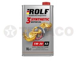 Масло моторное ROLF 3-SYNTHETIC 5W-30 A3/B4/SL/CF (1л) синтетическое