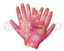 Перчатки AIRLINE нейлоновые женские с покрытием AWG-NW-09