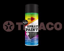 Краска-спрей AIM-ONE черная матовая (450мл)
