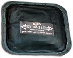 Пластырь резинокордный для радиальных шин БХЗ (115х125мм) 3 слоя