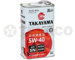 Масло моторное TAKAYAMA 5W-40 A3/B4 SN (1л)