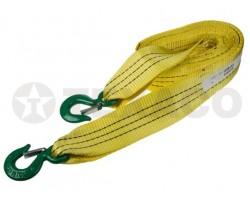 Трос буксировочный SKYWAY ленточный 7т/5м 2крюка  в пакете усиленный желтый S03101024