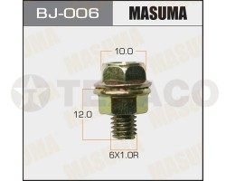 Болт с гайкой MASUMA M6х12x1.0 (6шт)
